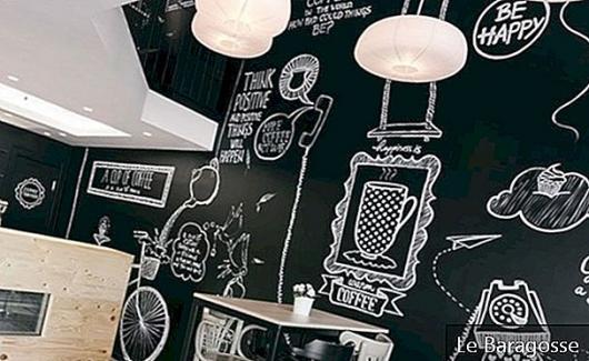 칠판 벽 : 스타일과 기능으로 벽을 장식하십시오