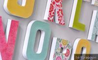 How to make the most beautiful letter molds at home